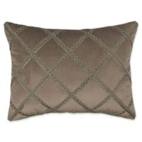 Austin Horn Classics Elegance Oblong Throw Pillow in Taupe/Grey