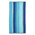Cool Stripe Beach Towel in Blue