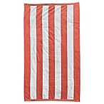 Resort Stripe Beach Towel in Coral