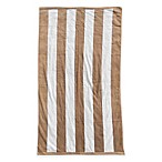 Resort Stripe Beach Towel in Sand