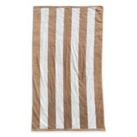 Resort Stripe Beach Towel in Sand