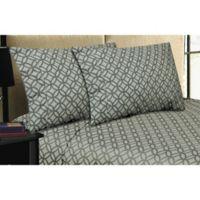 Micro Lush Microfiber Rings Standard Pillowcases in Grey (Set of 2)