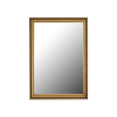 hitchcock butterfield athenian ornamented 16 inch x 34 inch rectangular wall mirror in