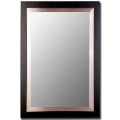 hitchcock butterfield 30 inch x 42 inch wall mirror in blacksilver