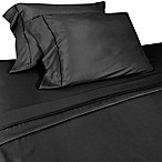 Micro Lush Microfiber Standard Pillowcases in Black (Set of 2)