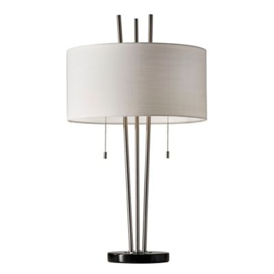 Adesso anderson table lamp in brushed steel