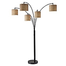 Adesso trinity 5 arm arc floor lamp bed bath beyond adessoreg trinity 5 arm arc floor lamp aloadofball Images