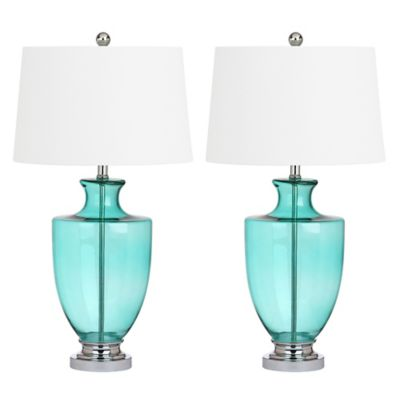 Safavieh Desiree Table Lamp In Green With CFL Bulb (Set Of 2)
