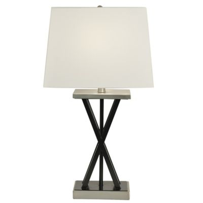 Buy brushed steel table lamp from bed bath beyond brushed steel table lamp in matte black aloadofball Image collections