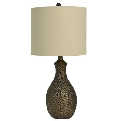 Hammered Table Lamp In Copper/Bronze
