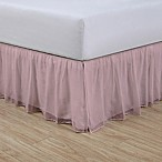 Cotton Voile 15-Inch Twin Bed Skirt in Blush