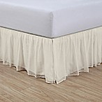 Cotton Voile 15-Inch Queen Bed Skirt in Ivory