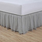 Cotton Voile 15-Inch King Bed Skirt in Grey