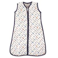 Hudson Baby® Size 6-12M Arrows Muslin Sleeping Bag in White/Navy