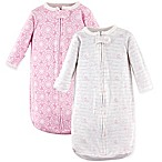 Hudson Baby® 2-Pack Long Sleeve Script Sleeping Bag in Pink