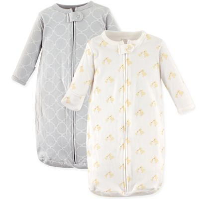 Wearable Blankets Hudson BabyR 2 Pack Long Sleeve Ducks Sleeping Bag In Yellow