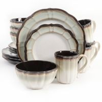 Gibson Elite Mableton 16-Piece Dinnerware Set in Green