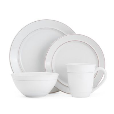 Gourmet Basics by Mikasa® Aubrey 16-Piece Dinnerware Set in White  sc 1 st  Bed Bath \u0026 Beyond & Buy White Stoneware Dinnerware from Bed Bath \u0026 Beyond