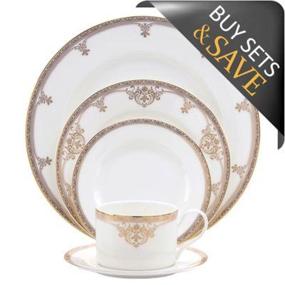 Oneida® Michelangelo Gold 20-Piece Dinnerware Set  sc 1 st  Bed Bath \u0026 Beyond & Buy Gold White Dinnerware Sets from Bed Bath \u0026 Beyond