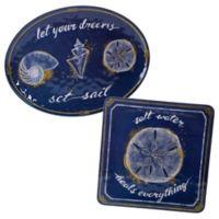 Certified International Calm Seas 2-Piece Platter Set