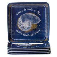 Certified International Calm Seas 6-Piece Salad Plate Set