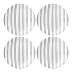 kate spade new york Charlotte Street™ Tidbit Plates in Grey (Set of 4)