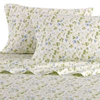Laura Ashley® Spring Bloom King Sheet Set in Periwinkle