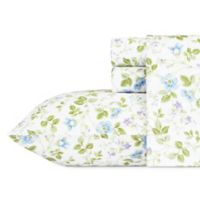 Laura Ashley® Spring Bloom Queen Sheet Set in Light Blue