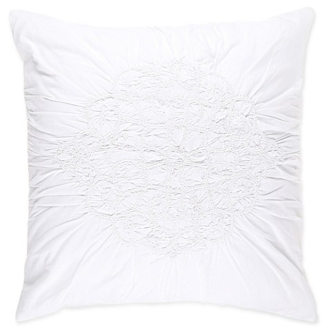 Wamsutta 174 Vintage Ruched European Pillow Sham In White