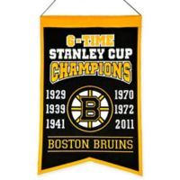 NHL Boston Bruins 6-Time Champions Banner