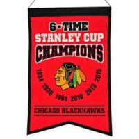 NHL Chicago Blackhawks 6-Time Champions Banner