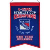 NHL New York Rangers Champions Banner
