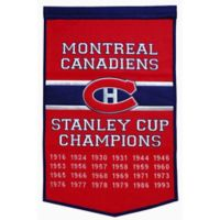 NHL Montreal Canadiens Dynasty Banner