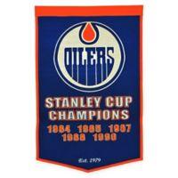 NHL Edmonton Oilers Dynasty Banner