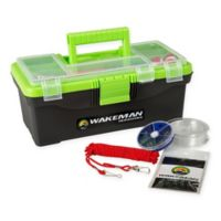 Wakeman 55-Piece Tackle Kit with Single Tray Tackle Box in Lime Green