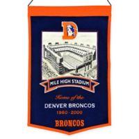 NFL Denver Broncos Mile High Stadium Banner