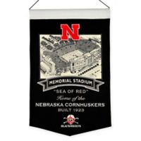 Nebraska Cornhuskers Memorial Stadium Banner