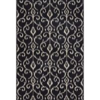 Feizy Settat 7-Foot 10-Inch x 11-Foot Area Rug in Black/Ecru