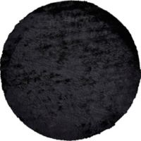 Feizy Isleta 8-Foot Round Area Rug in Black