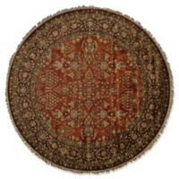 Feizy Alegra 8-Foot x 8-Foot Round Area Rug in Cinnamon/Plum