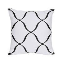 Sweet Jojo Designs Princess Square Throw Pillows in Black/White/Purple (Set of 2)