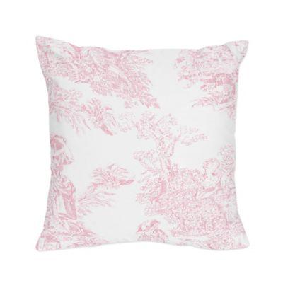 Bon Sweet Jojo Designs French Toile Square Throw Pillow In Pink/White