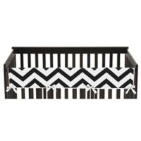 Sweet Jojo Designs Chevron Long Crib Rail Guard Cover in Black/White