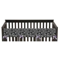 Sweet Jojo Designs Kaylee Reversible Long Crib Rail Guard Cover in Purple/White