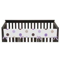 Sweet Jojo Designs Mod Dots Long Crib Rail Cover in Purple/Chocolate
