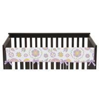 Sweet Jojo Designs Suzanna Long Crib Rail Guard Cover in Lavender/White