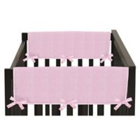 Sweet Jojo Designs Chenille Side Crib Rail Guard Covers in Pink (Set of 2)