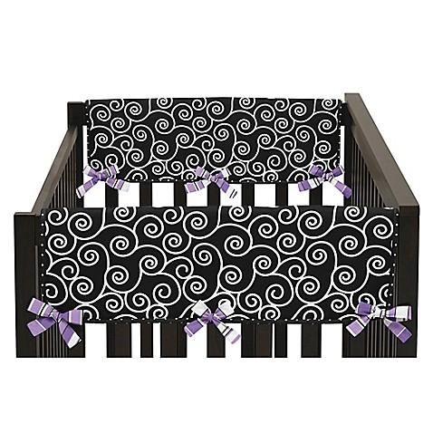 Sweet Jojo Designs Kaylee Short Crib Rail Guard Covers In Purple White Set Of 2 Buybuy Baby