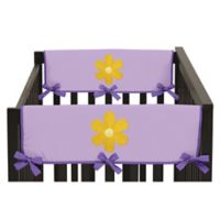 Sweet Jojo Designs Danielle's Daisies Side Crib Rail Guard Covers in Purple/Orange (Set of 2)