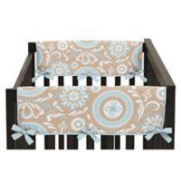 Sweet Jojo Designs Hayden Side Crib Rail Guard Covers in Spa Blue/White